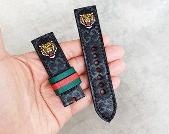 f1df457f82d Handmade Black Leather Strap