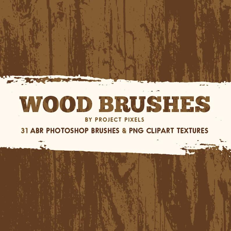 Wood Photoshop Brushes, Wood Texture Clipart, Graphic Design, Wood Brushes,  Grunge Brushes, Instant Download, Digital Brushes, Digital Art
