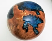 BALI RESIN GLOBE, Natural Resin Art, Handmade Resin Art, Resin Globe, Resin Sphere, Resin Centerpiece, Resin Sphere, Bali Teak Resin Ball