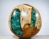BALI RESIN GLOBE, Natural Resin Art, Handmade Resin Art, Resin Globe, Resin Sphere, Teak Wood Ball, Bali Teak Resin Ball, Bali Teak Resin
