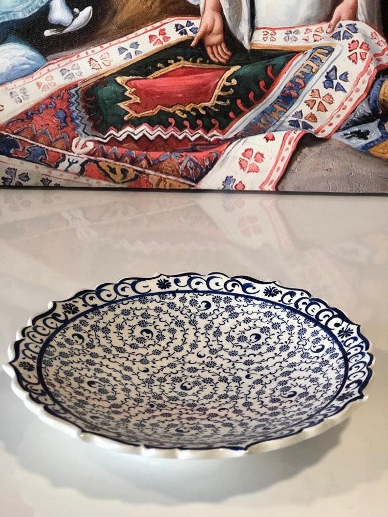 Iznik Ceramic Turkish Ceramic Salad Plate 18 cm Turkish Ceramic Plate Turkish Ceramic Plate Iznik Ceramic Plate Golden Horn 7