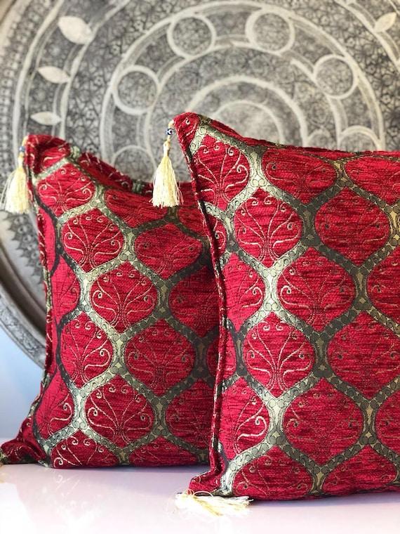 2x Oriental Turkish Pillow Set of Two Unique Green Pillow Set of Two Turkish Pillow Set of Two Green Oriental Pillow Set