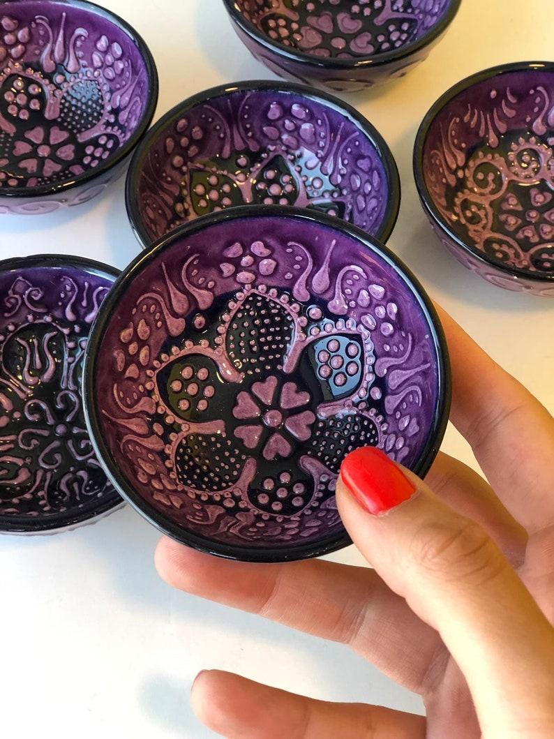 25x Turkish Ceramic Bowls Wedding Guest Favors Purple Bulk Gifts Bulk Turkish Ceramic Bowls Wedding Guest Gifts Wholesale Decor