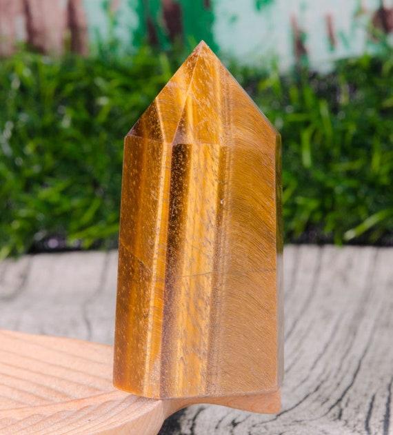 Gemstone Wand Obelisk Crystal Tiger Eyes Crystal Tower,Tiger Eye Crystal Quartz Point,Yellow Crystal Tower,Tiger/'s Eye Crystal Quartz Tower