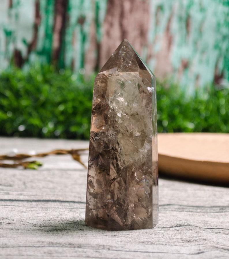Clear Citrine Crystal Tower,Citrine Crystal Quartz,Smoky Crystal Tower,Smoky Point,Citrine Crystal Tower,Citrine Crystal Quartz Tower,Decor