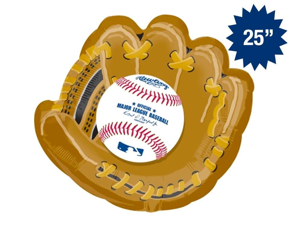 19f22e9d2 Baseball Glove Balloon 25 Baseball Mitt Baseball Party