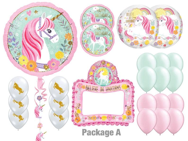 4731ef21b Unicorn Party Balloon Kit Balloons for Unicorn Theme