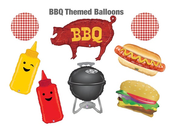 "BBQ BALLOON 35/"" BARBEQUE PIG SUPERSHAPE BETALLIC FOIL BALLOON"