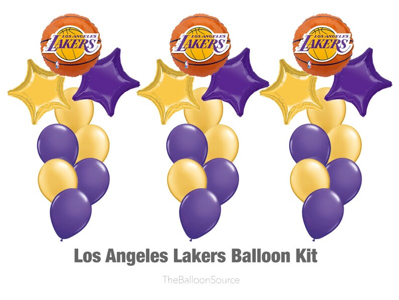LA Lakers Balloon Kit 29ct Party Decoration