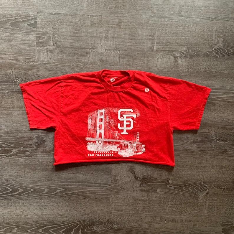 Vintage RED SAN FRANSISCO Crop Top image 0