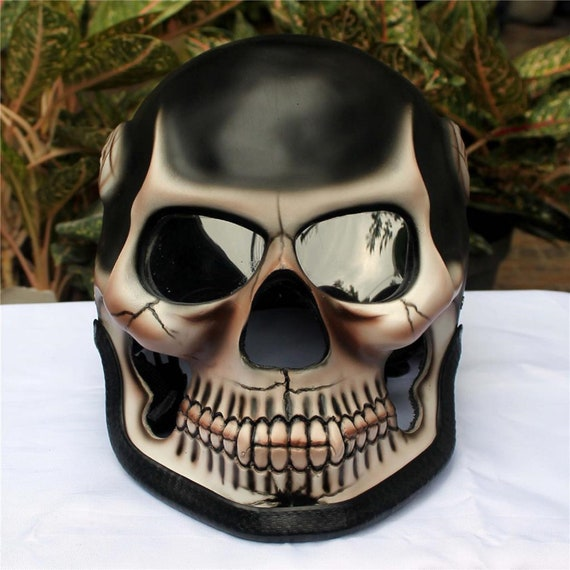 Motorcycle Helmet Skull Skeleton Death Ghost RIDER Full Face Airbrush