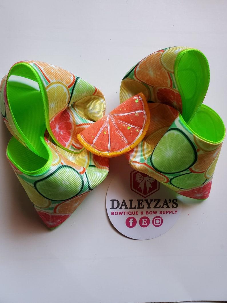 mo\u00f1o para ni\u00f1as bows for girls toronjas girls accessories c\u00edtricos hair accessories orange bow citric bow GRAPEFRUIT BOW grapefruit