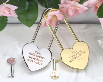 LoveHeart Padlock Love Heart Lock Engraved Gifts Couple Gifts LoveLock Lock Love Padlock Gold Lock Wedding Gifts Love Heart Gifts
