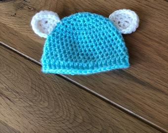 Crochet Baby Bear Beanie Hat