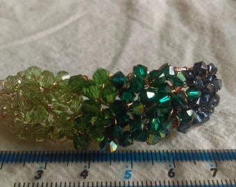 Geode bangle green