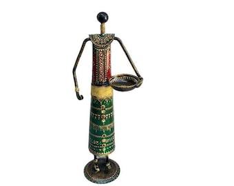 Tall Massai Lady Shape Tealight Holder
