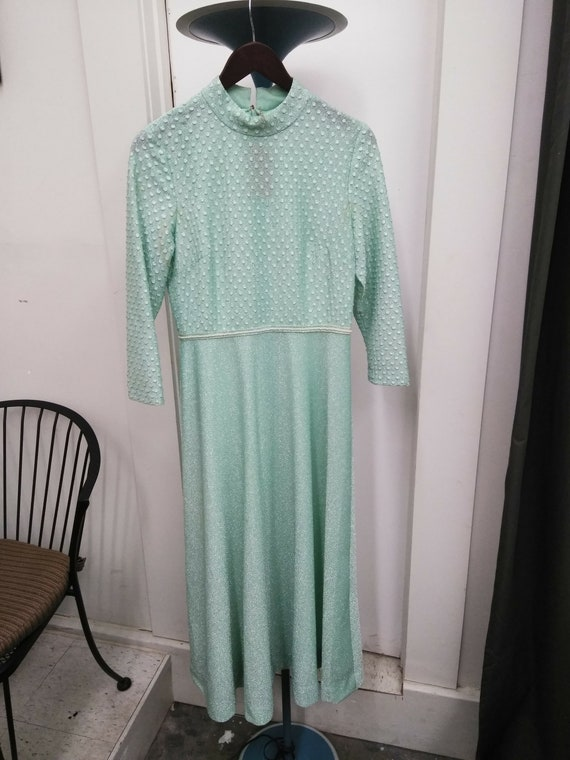 Vintage Green Sparkly Gown