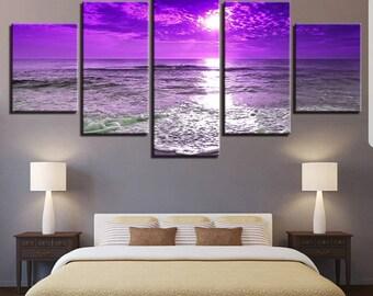 Beautiful Seascape beach 5 Panel Canvas