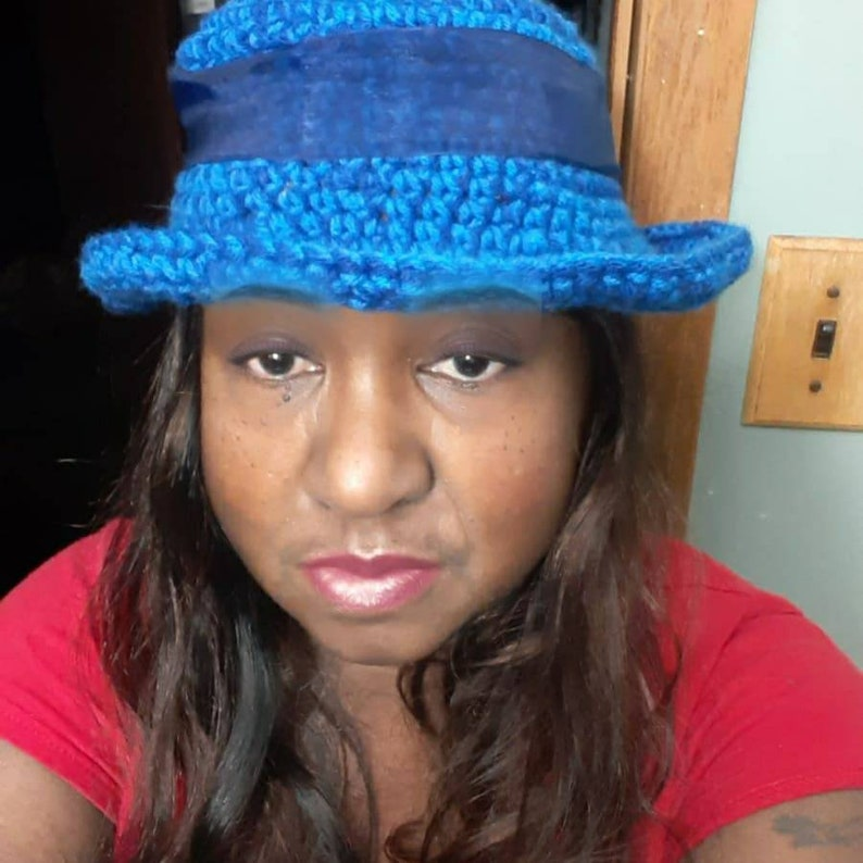 Blue Fedora with Extensions
