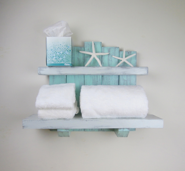 Handmade Wood Wall Shelves-Beach Decor Above Toilet | Etsy