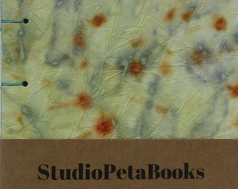Ecoprinted Journal - Sketchbook - Scrapbook - Album - Unlined Pages - Coptic Binding for Lie-Flat Pages - Birthday Gift - Graduation Gift