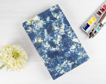 Ecoprint Watercolour Sketchbook, Hand Bound, Pages Open Flat, Coptic Stitch, Ecodyed Covers, Gift For Artist, Ecofriendly, One of a Kind