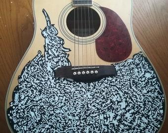 Painted Brunswick Guitar