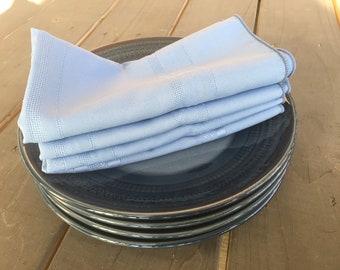 17x17 Set of 12 - Blue Cloth Dinner Napkins