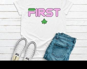 49d5e592c Alpha Kappa Alpha Fila Inspired Woman Shirt | First