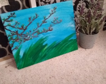 Original Art Painting: Cherry Blossom Tree