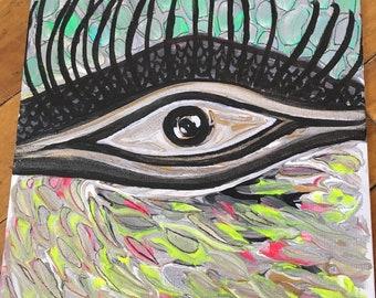 Abstract colibri eye