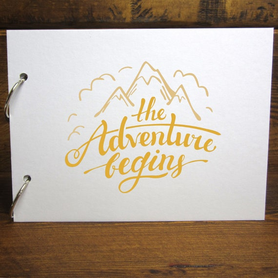 A4/A5 Adventure Begins Scrapbook, Removable Pages, Photo Album, Diy Keepsake by Etsy