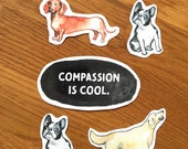 6 stickers - stickers - with dog motifs - animal welfare - activism
