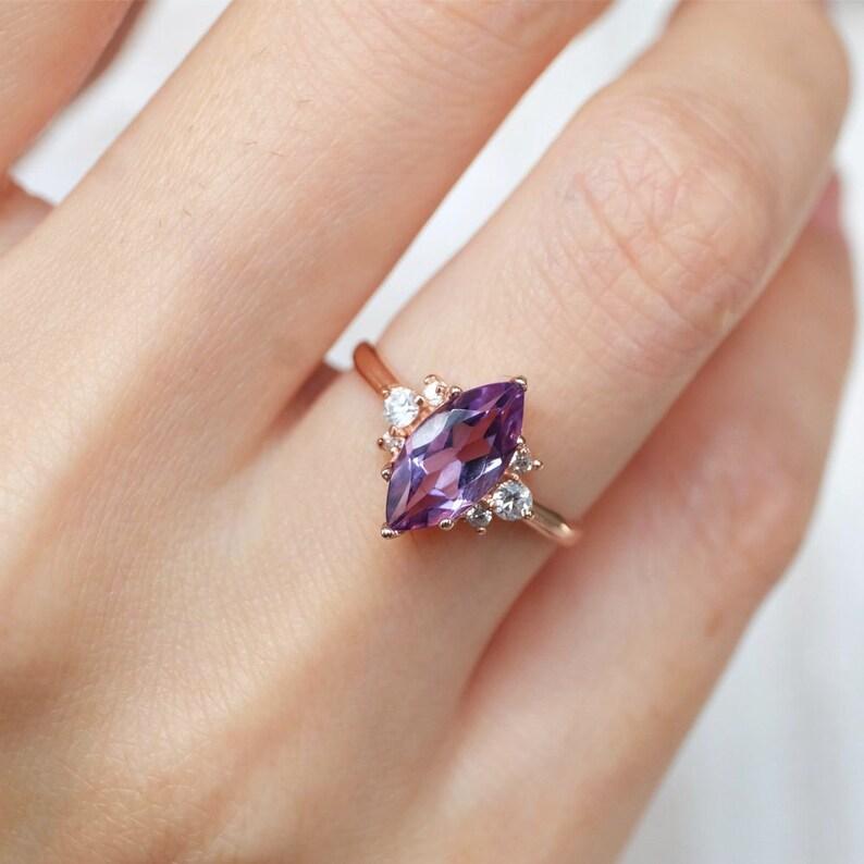 amethyst marquise amethyst ring wedding ring marquise amethyst february birthstone marquise ring marquise amethyst engagement ring