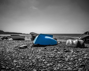 Landscape Photography Print - The Blue Boat of El Golfo