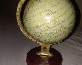 Rare Tin Globe..Chad Valley, England. Toy maker for the Queen