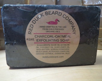 Charcoal-Oatmeal Exfoliating Soap - Pine Scent