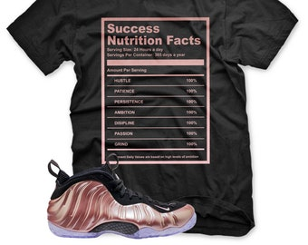 0154dbf3903a3 New SUCCESS FACTS T Shirt for Nike Elemental Rose Pink Foamposite gold  Abalone