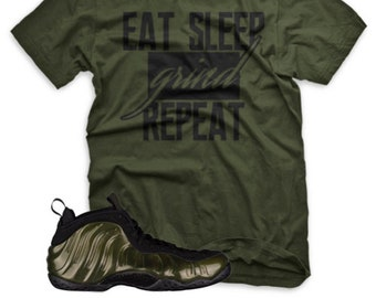 2c7fe947092 NEW GRIND Legion Green T Shirt for Nike Legion Green Foamposite One