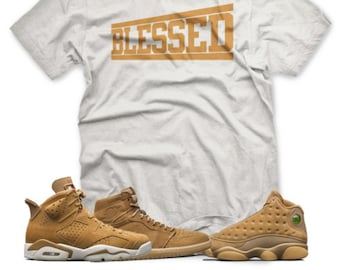 16df4125424 BLESSED T Shirt inspired by Jordan Golden Harvest OG Wheat Elemental Gold 6  1 13