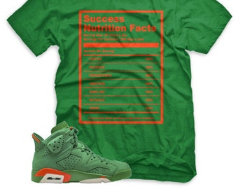 1ac428451ce Green Success Facts T Shirt for Jordan 6 VI Gatorade Suede PRM Be Like Mike