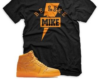 8d43ce7e5a8 BE LIKE MIKE T Shirt for Jordan 1 Retro Gatorade Orange Peel Purple Blue  Lime