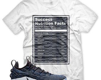 brand new 4aa2c 86c32 Neu-Erfolg-Fakten-T-Shirt für Nike Lebron 15 Signal blau Thunder Grey