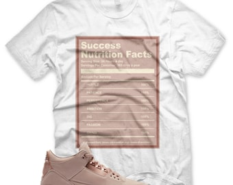 30e22099ad13c9 New Success Facts T Shirt for Jordan Retro 3 III Particle Beige SE Women