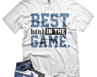 def0e656bebc03 New BEST HAND T Shirt for Jordan 1 Retro BLUE Moon Clay Green 6 Rings Ochre