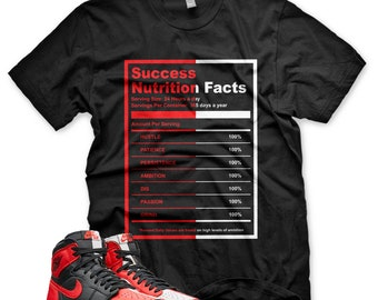 New SUCCESS FACTS T Shirt for Jordan 1 Homage to Home NRG Bred Chicago Bull bf1c9ec70