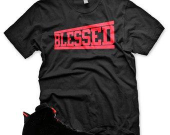 20d531e2b91b New OG BLESSED T Shirt for Jordan 6 OG Black Infrared vi