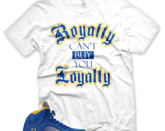 5be80db19e7ed9 New ROYALTY T Shirt for Jordan 5 Laney V Jsp Royal
