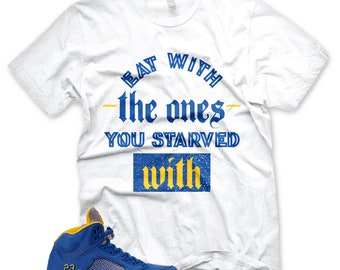 183e78ed152f New STARVED T Shirt for Jordan 5 Laney V Jsp Royal