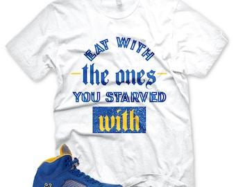 4d3f0d4ce58b36 New STARVED T Shirt for Jordan 5 Laney V Jsp Royal